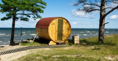 Sauna am Meer in Lettland