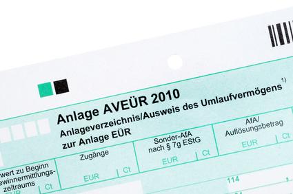 Anlagevermögen EÜR Steuer erklärung