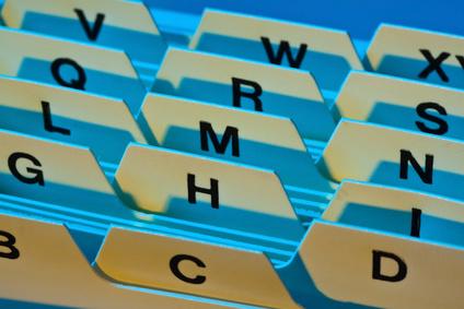 Buchführung Sstem zur Ablage von Rechnungen