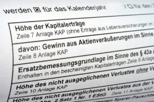 Abgeltungsteuer, Steuer auf Kapitalertrag